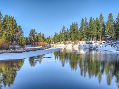 Photo for Beautiful Log Home On The Big Deschutes River.