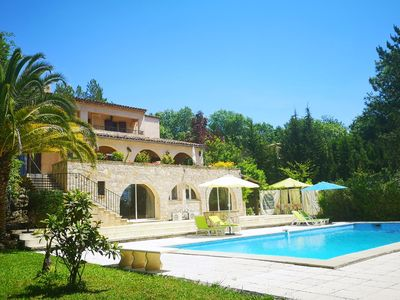 Photo for Stunning villa & apartment in côte d'azur with pool ( LONG TERM  LET AVAILABLE)
