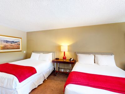 Photo for Room on 1st floor w/ gym, steam room, on bus route, 24-hour front desk