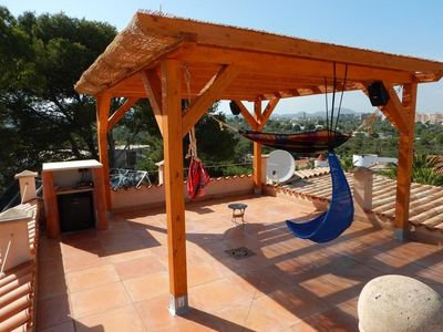 Photo for Villa on 2 beautiful bays with sandy beach, heated pool, ideal for. children