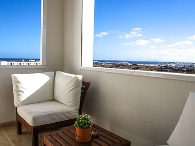 Photo for Apartment Los Claveles | A beautiful seaview home  with spectacular sunsets