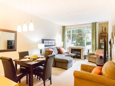 Photo for COZY & CONVENIENT Couples or Family Getaway: Walk to Everything w/ Pool + Hot Tub