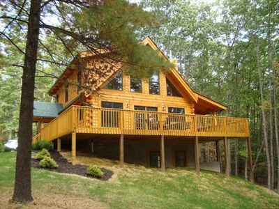 Photo for The Black Bear, a spectacular loghome. All rates include hotel ands sales tax