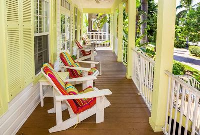 Relax on the front porch and enjoy the sights and sounds of Captiva Island.