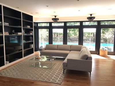 """New Living Room with 55"""" TV, Sonos Playbase, Sonos AMP"""