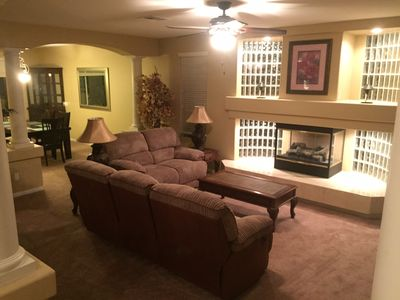Front Sitting Room with Gas Fireplace