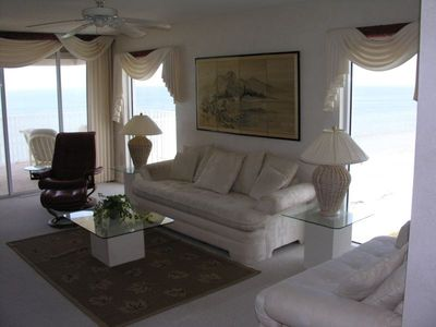 Living room with awesome beach views!