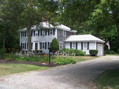 Photo for Vacation home, Hyannisport Cape Cod, near beach, child safe street, 1 acre lot