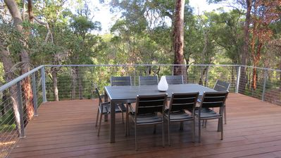 Back deck - watch birds flit by in the treetops