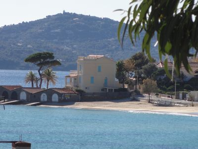 Photo for On the beach of SAINT CLAIR - LAVANDOU - T2 - 54m2 classified 4 * - Terrace sea view