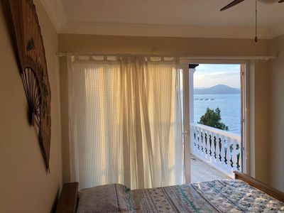 Photo for Bodrum Beach-front villa with sea/islands view