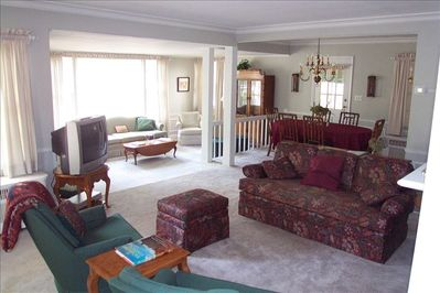 Double Living Room and Dining Room