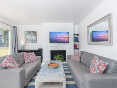 Photo for New Listing! Sunny Family Beach Vacation Home with AC! - Downstairs Unit
