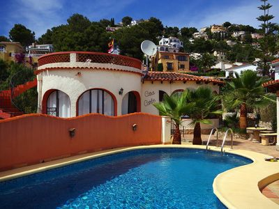 Photo for Club Villamar - Authentic spanish holiday villa located in a charming area close to the precious creek Cala Baladrar