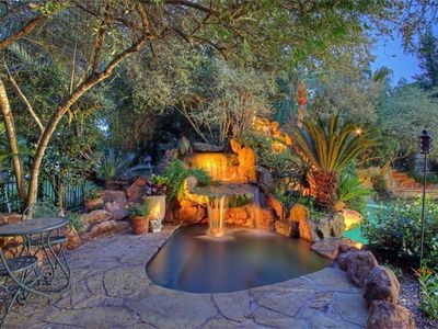 Photo for Mediterranean Pool Heated Spa Landscaped on Golf Course. sps 13