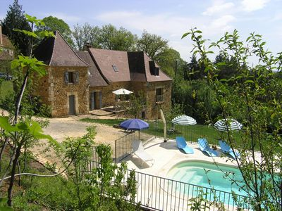 Photo for Beautiful country house with private pool in the heart of the Dordogne