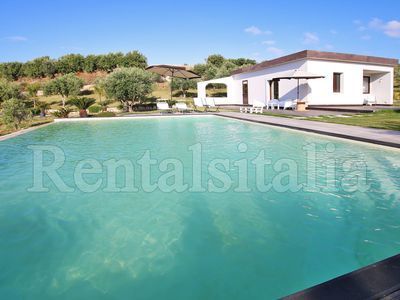 Photo for Large property, 2 Modern Villas, PRIVATE POOL, Golf Practice, Sea View, WIFI