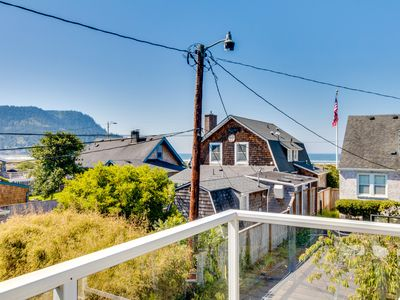 Photo for Walk to everything! Ocean views, fireplace, & spacious deck