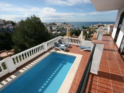 Photo for Nerja: Villa with private pool and views to the sea and mountains. Free WIFI