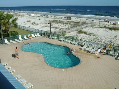 Photo for April Special $135/nt Heated beachside pool Lg Balcony 5th fl  Kg, tw, sleeper
