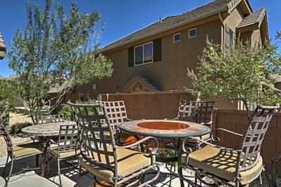 Look forward to soaking up the sun on the private patio.