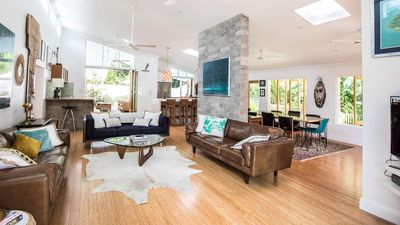 Open plan tropical living at its best - seamless comfort among the palm trees