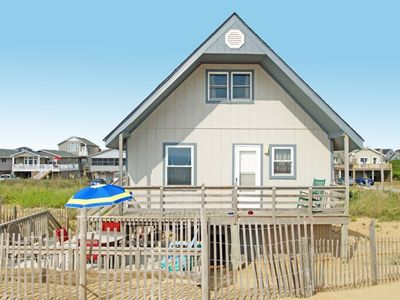 Photo for Classic Oceanfront home in Kitty Hawk with 3 bedrooms right on the beach.!!!!