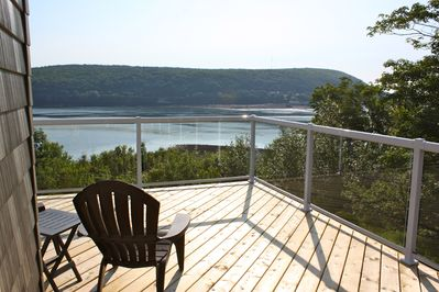 Wrap-around deck overlooking the Annapolis Basin & Bay of Fundy.