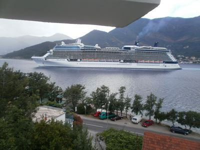 watch the liners go by from your large balcony