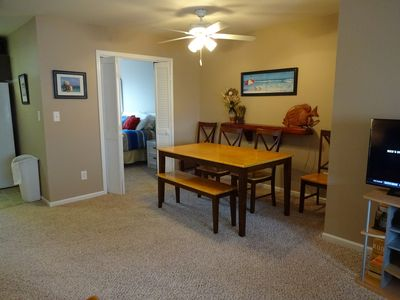 Dining Area (folding chairs and bar stools provided for additional seating)