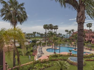 Photo for Beautiful beachfront apartment for holiday rental, Estepona