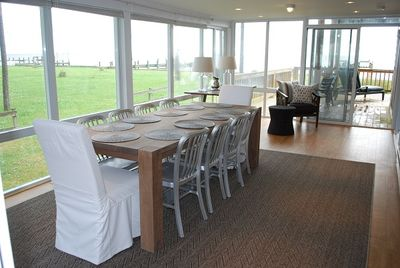 Dining room with incredible Bay views