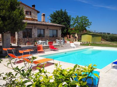 Photo for Near Todi a farmhouse surrounded by greenery with swimming pool