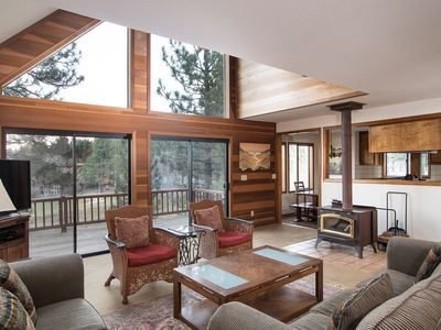 Photo for Spring Special! Cozy cabin retreat on Northstar Golf Course with Sierra Nevada views and floor-to-ce