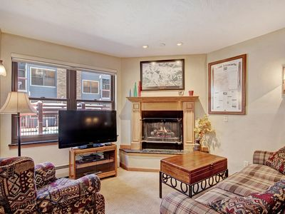 Photo for Condo with Balcony + Fireplace a 7-Minute Walk to the Snowflake Lift!