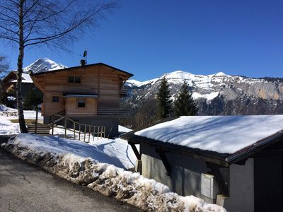 Photo for BEAUTIFUL MODERN CHALET WITH PANORAMIC VIEW - NEAR TRACKS - 10 PERS
