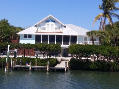 Photo for Florida Island paradise!  Pool, Dock, poolside bar and TV. Close to beach.