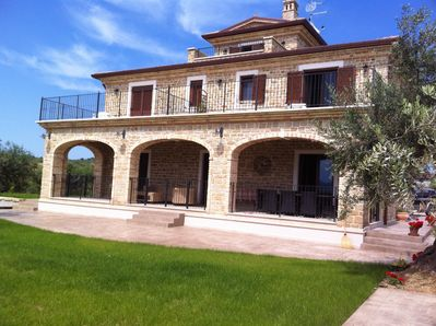 Casa Toti from the olive grove