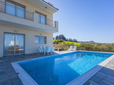 Photo for Luxury 4 Bed Villa - Stunning Sea Views - Private Pool - Jacuzzi - Sauna