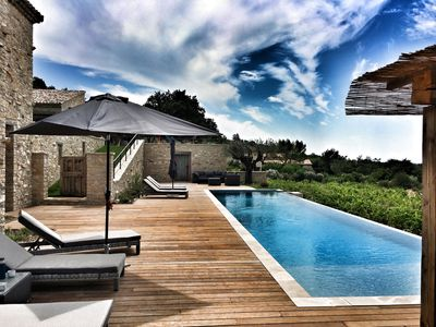 Photo for Mas des Amis, Seguret, Village classified in Provence, heated swimming pool