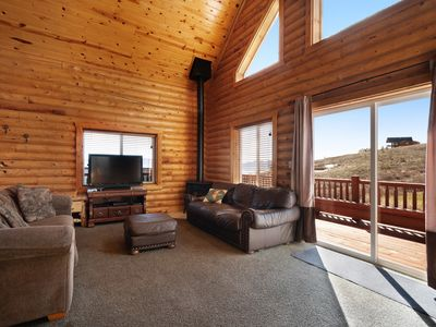 Photo for Cabin w/ scenic views, access to shared pool, hot tub, & sports courts