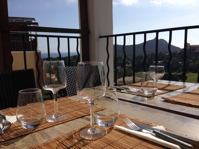 Photo for Cap Esterel, Apart. 5 pers. sea view, pool, parking and wifi included