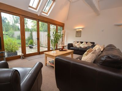 Sit indoors and look out onto garden