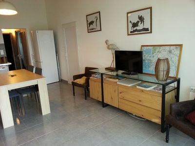 Photo for the heart of the Nature Park of the Camargue, charming apartment with large garden