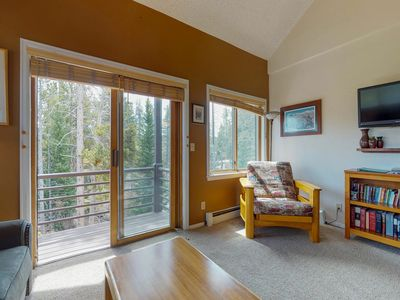 Photo for Dog-friendly, ski-in, ski-out condo with shared hot tub and convenient location