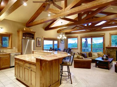 Photo for Dog-Friendly, Spectacular Views, Private Hot Tub, 2 Living Areas, Elevator - End of Summer Deals!