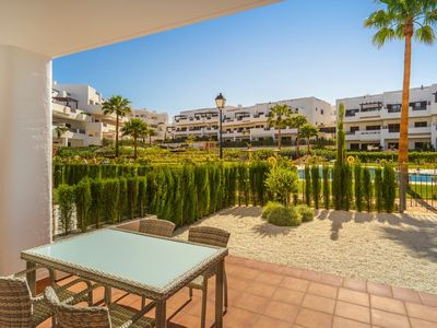 Photo for Wonderful apartment in San Juan de los Terreros, Andalusia, Spain  with communal pool for 4 persons