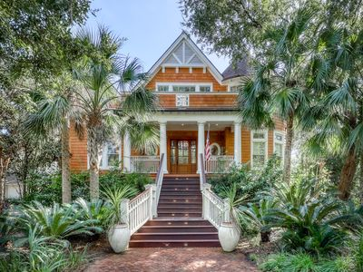 Photo for Luxury golf front home w/ jetted tub, lagoon views, & shared tennis courts!