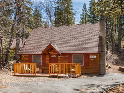Photo for Bear Beauty.Outdoor Spa. BBQ.Fireplace. Close to Bear Mountain, Lake, Village.