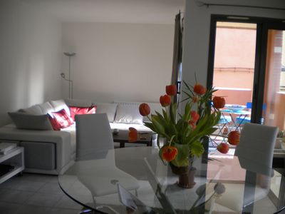 Photo for Furnished apartment T4 with garage and terrace historic center of Perpignan